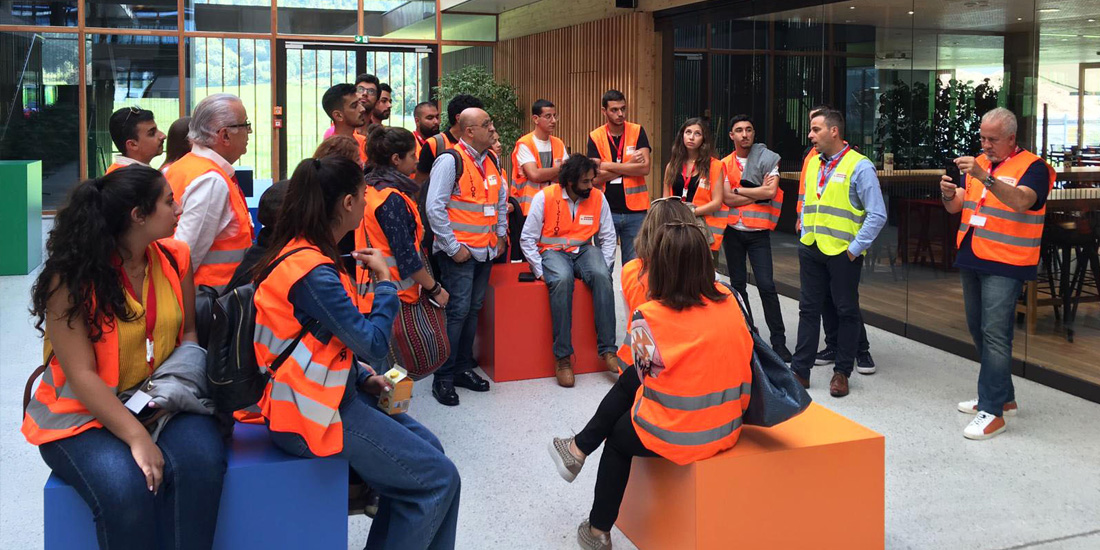 Architecture students take part of the yearly trip to EGGER